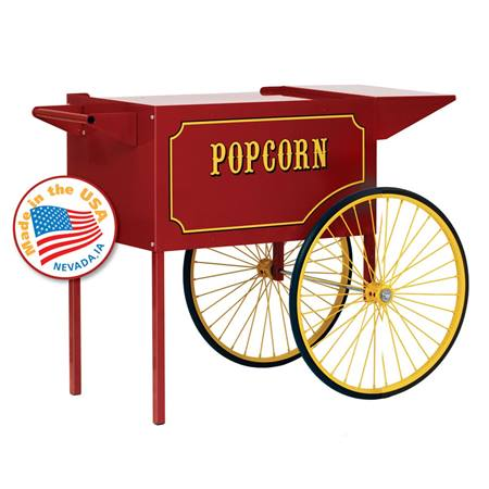 Large Red Popcorn Cart