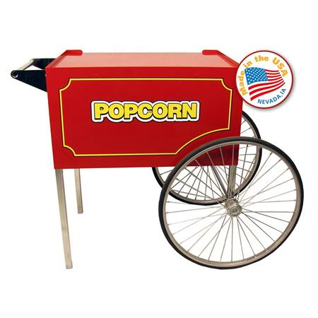Large Red Classic Popcorn Cart