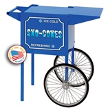 Small Blue Sno Cone Popcorn Cart