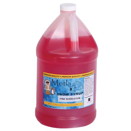 Sno Cone Syrup Bubblegum Gallon