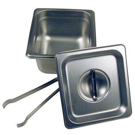 "4"" Steam Pan Set with Lid/Tongs"