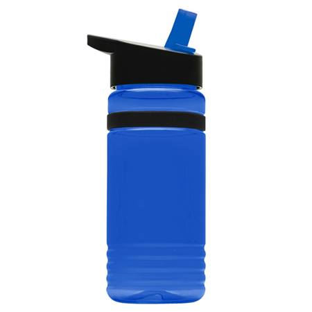 20 oz. Tritan Stripe Bottle with Flip-Straw Lid
