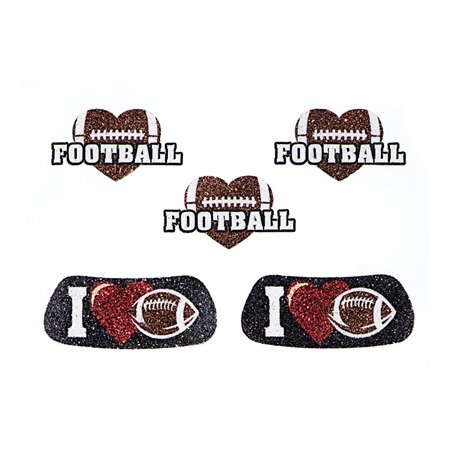 Glitter Body Decals - I Love Football