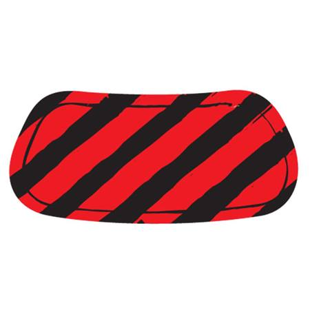 Red/Black Diagonal Stripe EyeBlacks