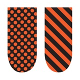 School Color Spirit Nails - Orange and Black