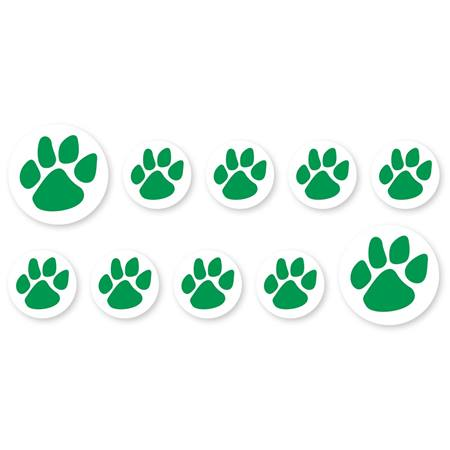 Mini Paw Decals - Green