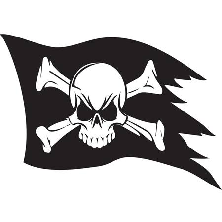 Pirate Flag Temporary Tattoos
