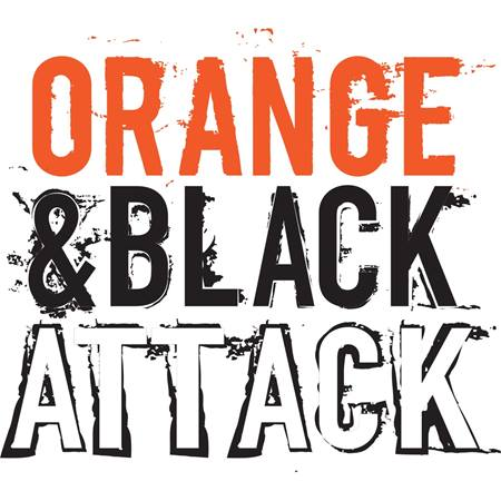 Orange & Black Attack Temporary Tattoos