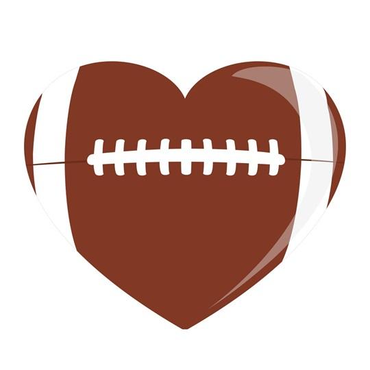 Heart-shaped Football Temporary Tattoos | Anderson\'s
