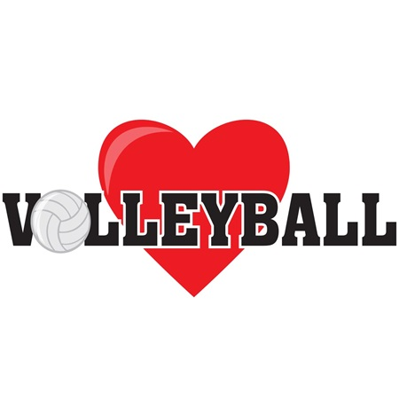 Volleyball Love Temporary Tattoos