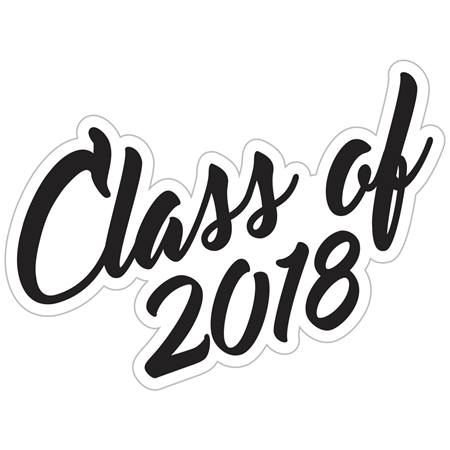 Class of 2018 Temporary Tattoos - Script Font