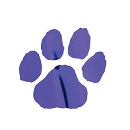 Metallic Purple Paw Temporary Tattoo