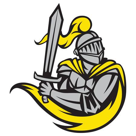 Yellow Knight Temporary Tattoos