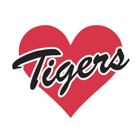 Red Heart/Tigers Waterless Tattoos