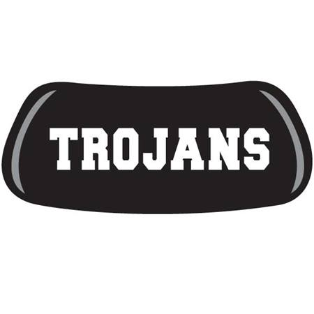 Trojans Black and White Lettering Eyeblack Pair