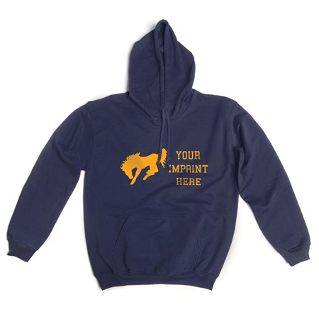 1-Color Custom Pullover Fleece Hoodie