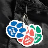 Custom Full Color Paw Dog Tag - Laminated