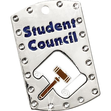 Bling Dog Tag - Student Council