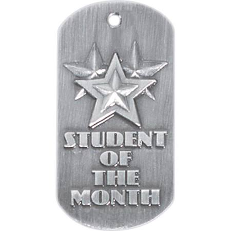 Embossed Dog Tag - Student of the Month