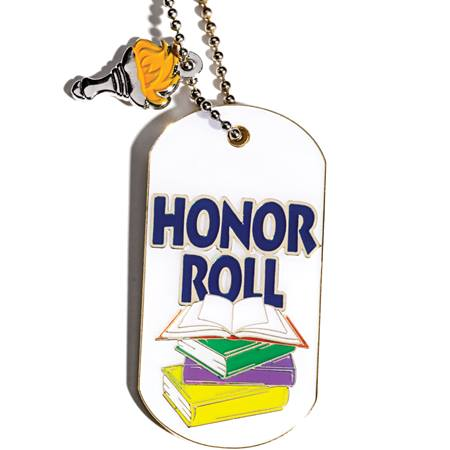 Honor Roll Dog Tag with Charm