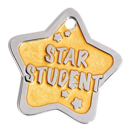 Star Student Shaped Dog Tag