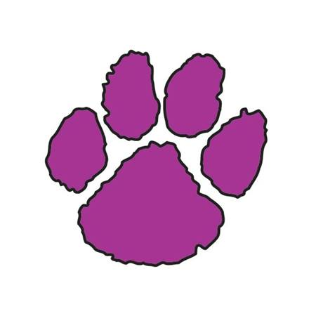 Paw Temporary Tattoo - Purple