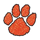 Paw Temporary Tattoo - Red Glitter