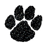 Paw Temporary Tattoo - Black Glitter