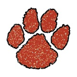 Paw Temporary Tattoo - Maroon Glitter