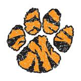 Paw Temporary Tattoo - Glitter Tiger Stripes