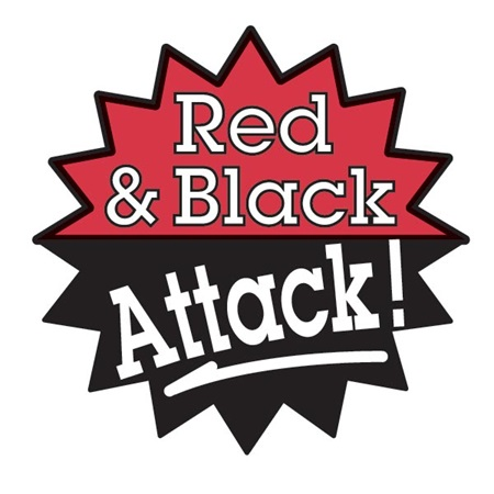 Red & Black Attack Temporary Tattoo