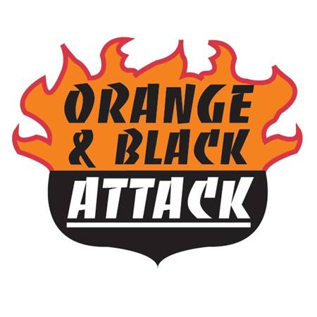 Orange & Black Attack Temporary Tattoo