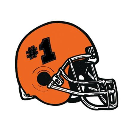 Football Helmet Temporary Tattoo - Orange #1