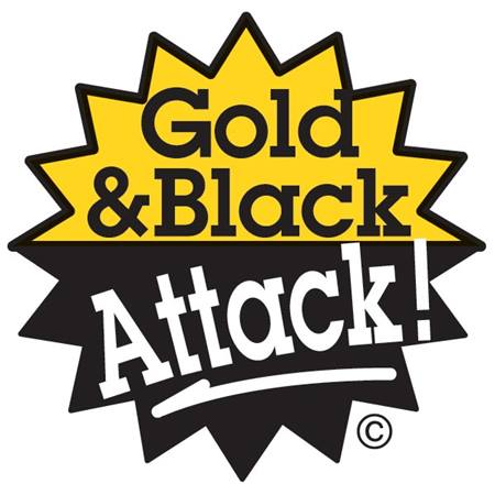 Gold & Black Attack Temporary Tattoo
