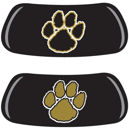 Black and Gold Paws EyeBlack Set