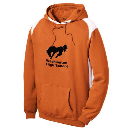 Pullover Hoodie with Contrast Color