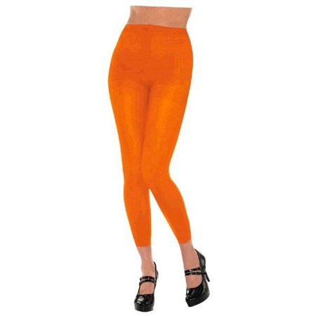 Orange Footless Spirit Tights