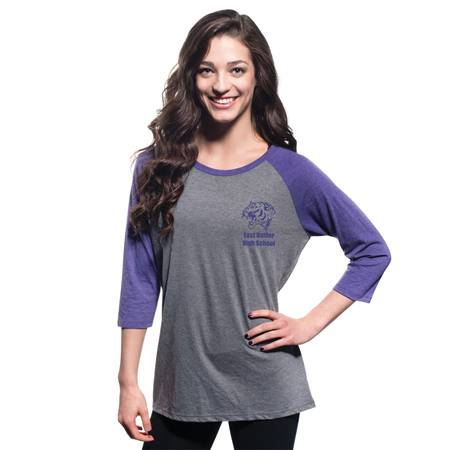 District Made® 3/4 Sleeve Raglan Shirt - Womens