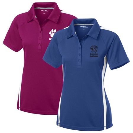 Ladies Colorblock Polo Shirt
