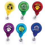 Round Retractable Badge Reel - Translucent Color