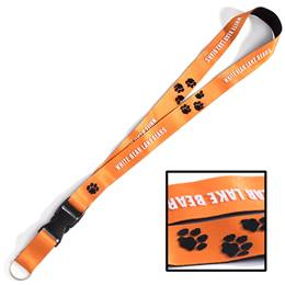 3-D Lanyard with Paw Prints