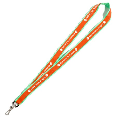 Neon Ribbon-edged Lanyard