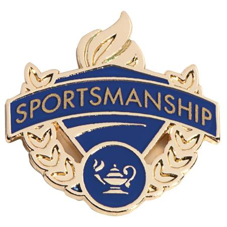 Blue/Gold Award Pin - Sportsmanship