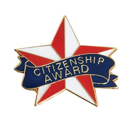 Citizenship Award Pin - Red, White, and Blue Star