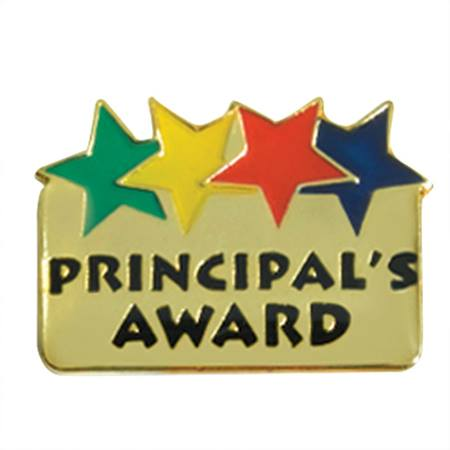Principal's Award Lapel Pin - Colored Stars