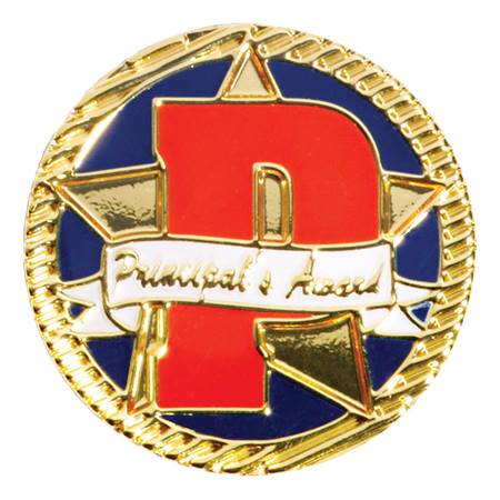 "Principal's Award Lapel Pin - Big ""P"""