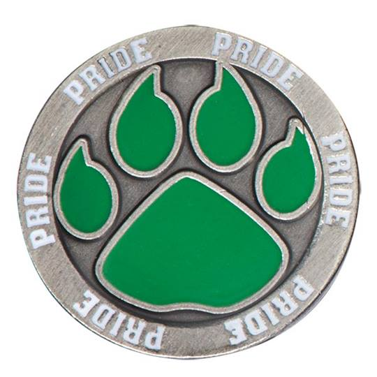 Green Paw Pride Lapel Pin | Anderson's