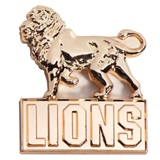 3D Molded Gold Award Pin - Lions