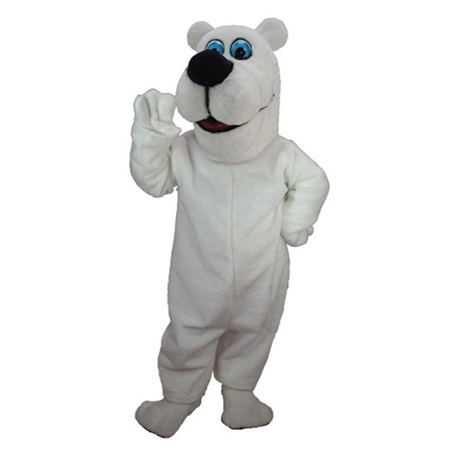 Cartoon Polar Bear Mascot Costume