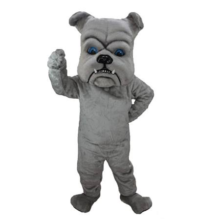 Dark Gray Bulldog Mascot Costume